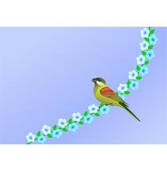 nature bird vector image