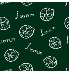 Seamless pattern lemon and the words lemon vector