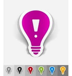 Realistic design element light bulb with an vector