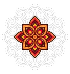 Ugadi and gudi padwa mandala line vector