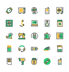 Electronics Icons 2 vector image