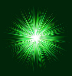 Abstract green explosion design background vector