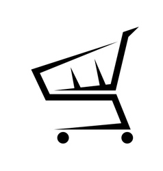Abstract of a shopping cart on white vector image vector image