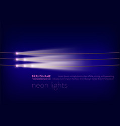 abstract purple banner with neon spotlights vector image vector image