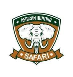 African hunting safari club sign vector image