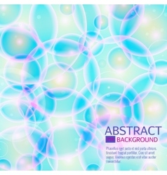 Blue cell background Life and biology medicine vector image vector image