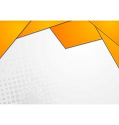 Bright orange design vector image