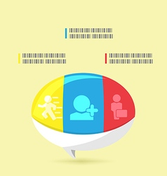 Bubble Info Graphic Modern Template vector image vector image