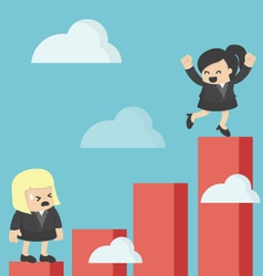 Business woman increase profit vector