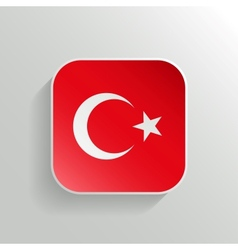 Button - Turkey Flag Icon vector image vector image