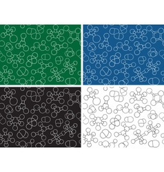 Chemistry background - seamless pattern molecule m vector image
