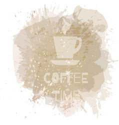 Coffee background or banner flayer web print vector