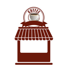 Coffee shop store facade exterior vector