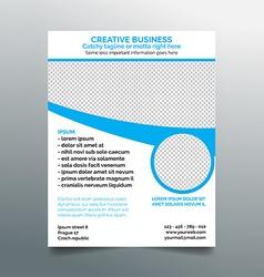 Creative business flyer design - light blue vector image vector image