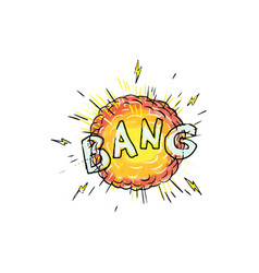 Explosion bang cartoon vector