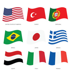 Flags of countries set vector