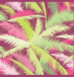 floral pattern palm tree leaves summer seamless vector image