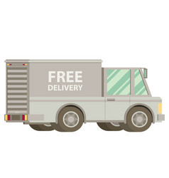 free shipping car vector image vector image