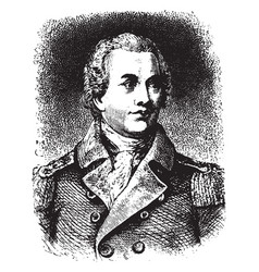 General nathaniel greene vintage vector