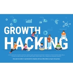 Growth hacking concept vector
