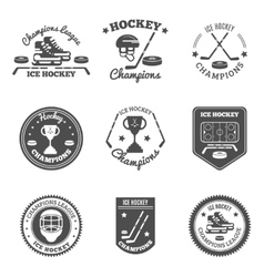 Hockey Labels Set vector image