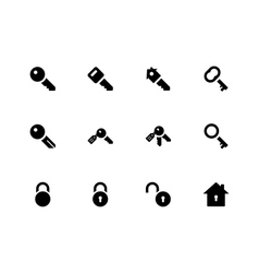 Key icons on white background vector