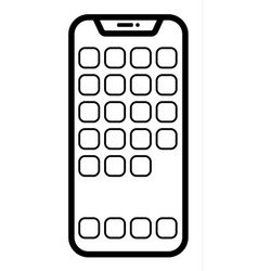 Modern smartphone linear vector