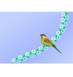 nature bird vector image vector image
