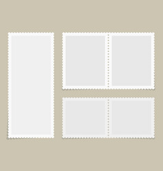 Postage stamps for postcard vector
