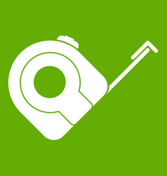 roulette construction tool icon green vector image vector image