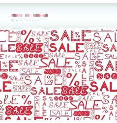 Sale seamless pattern horizontal torn frame vector image vector image