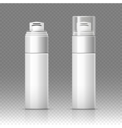 Shaving foam cosmetic bottle sprayer container vector