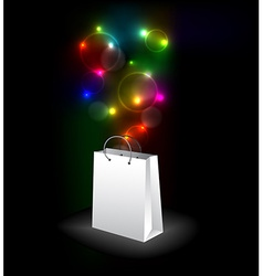 shopping bag with a surprise vector image