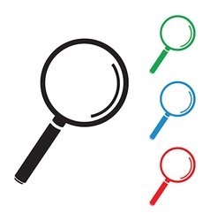 Magnifying glass group vector