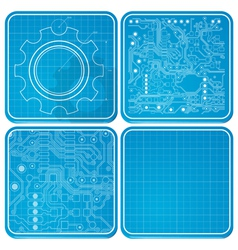 Blueprints vector image