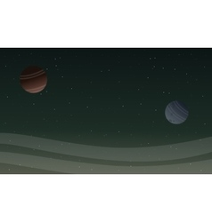 Space landscape with planet backgrunds vector image