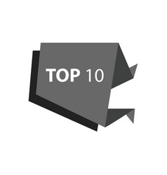 Top10 text in label black color vector