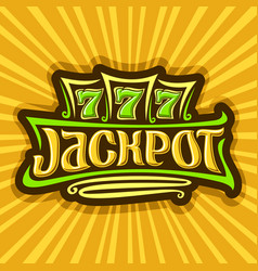 Poster for jackpot theme vector