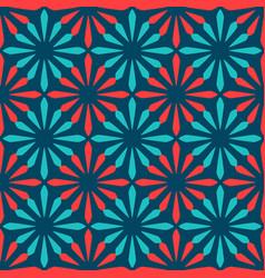 Spanish ornamental ceramic tile vector