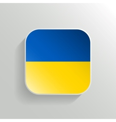 Button - ukraine flag icon vector