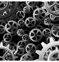 Steampunk gears background vector