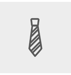 Necktie thin line icon vector
