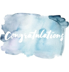 Congratulations abstract background watercolor vector