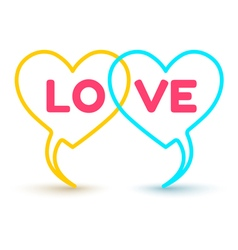 two hearts vector image