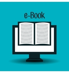 Electronic books design vector