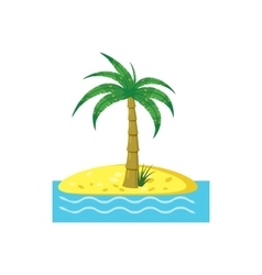 Palm tree icon cartoon style vector
