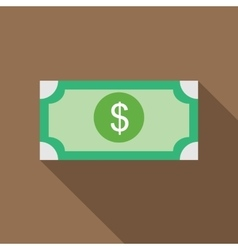 Dollar bill icon in flat style vector