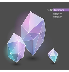 abstract crystal violet vector image vector image