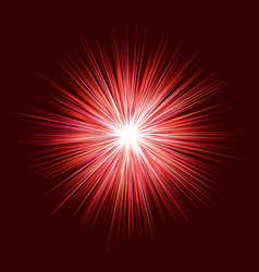 abstract red explosion design on dark background vector image