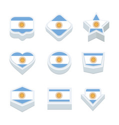 antigua and barbuda flags icons and button set vector image